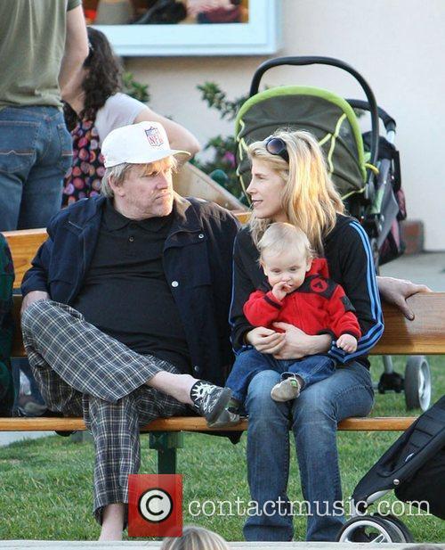 Gary Busey, Steffanie Sampson and their son Luke...