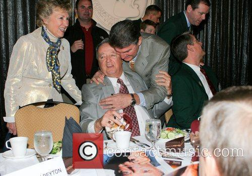 FSU Coach Bobby Bowden with the Governor of...