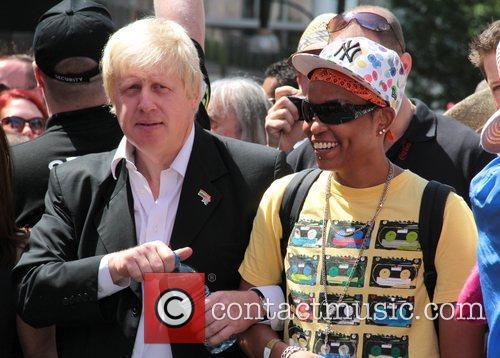 London's Mayor Boris Johnson 2010 London Gay Pride...