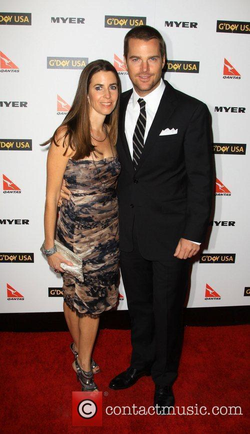 Chris O'donnell and Caroline Fentress 5