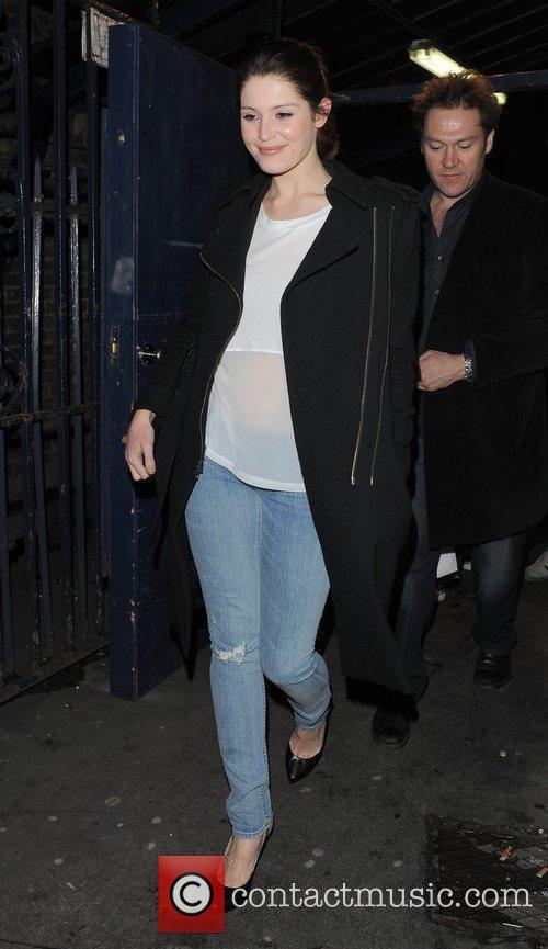 Gemma Arterton leaving the Garrick Theatre, having performed...