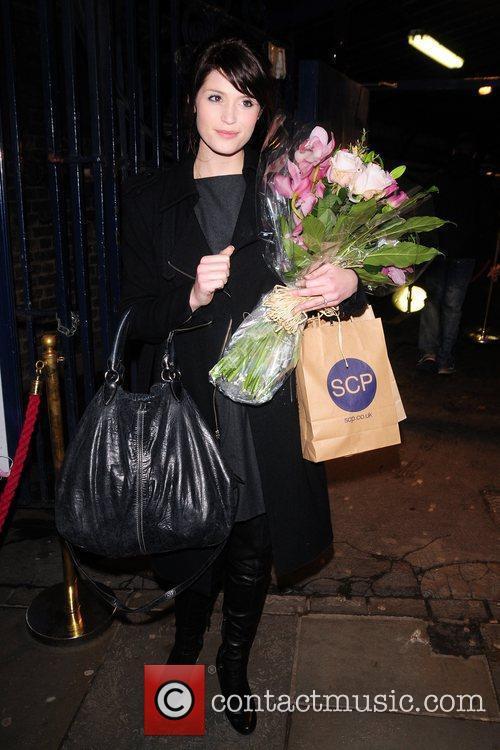 Gemma Arterton  leaving the Garrick Theatre after...