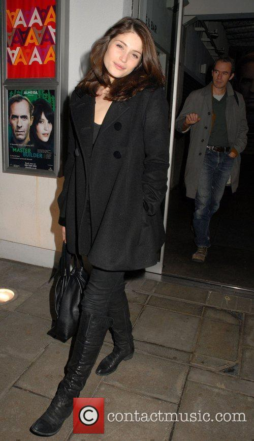 Leaving the Almeida Theatre in Islington, after performing...