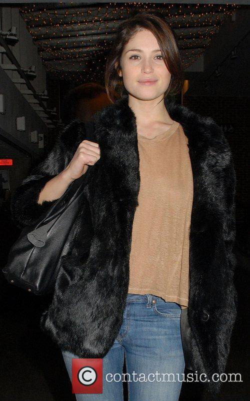 Gemma Arterton leaving the Almeida Theatre where she...