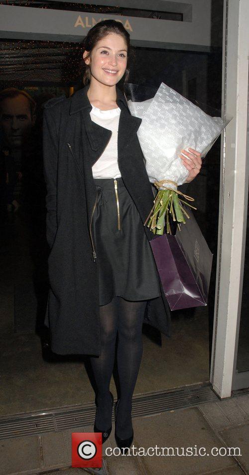 Gemma Arterton departs the Almeida Theatre after performing...