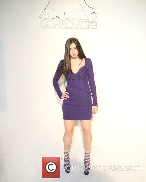 Model wearing design by Sophomore  Gen Art...