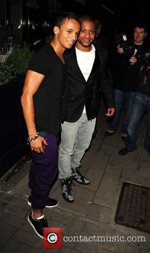 Jonathan JB Gill and Aston Merrygold from JLS...