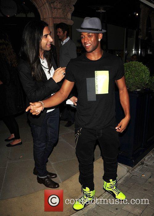Oritse Williams from JLS leaving The George Club...
