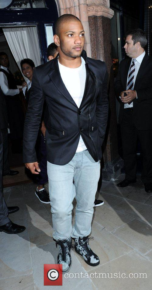 Jonathan JB Gill from JLS leaving The George...