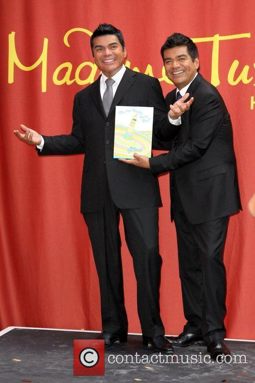 Madame Tussaud's George Lopez wax figure unveiling at...