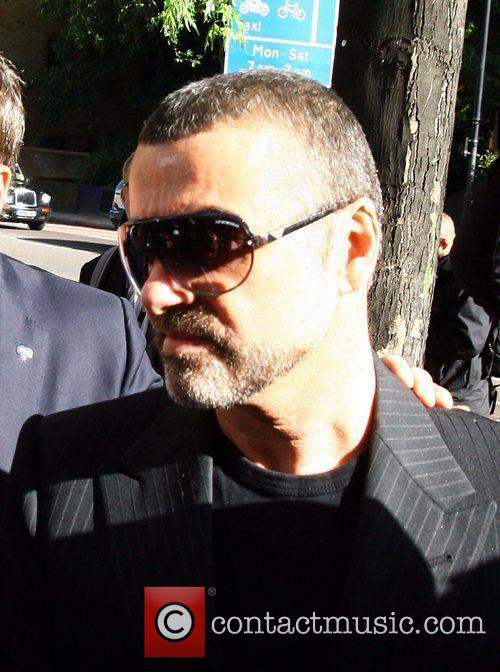 George Michael arriving at Higbury Magistrates Court, charged...