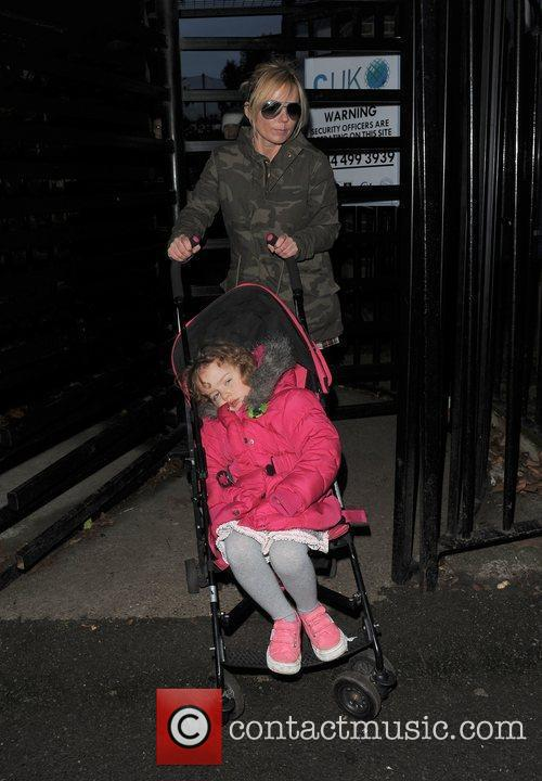 Geri Halliwell and her daughter Bluebell enjoy a...