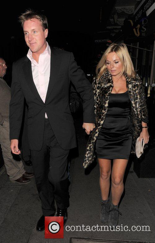 Geri Halliwell and her boyfriend Henry Beckwith leaving...