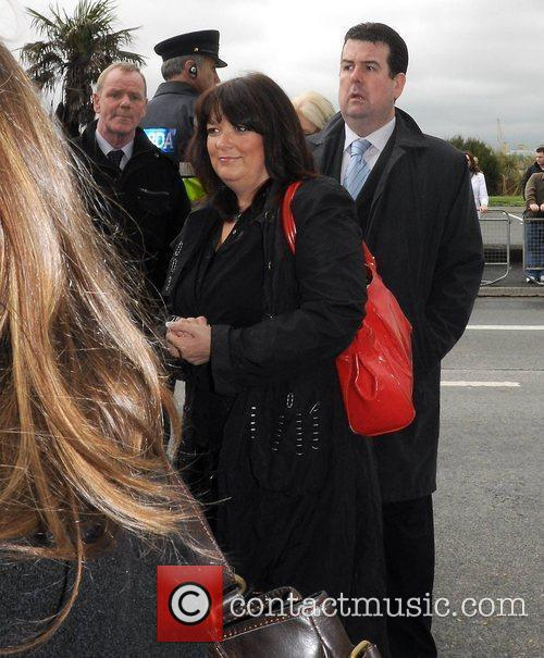 Brenda Donohue The funeral of RTE broadcaster Gerry...