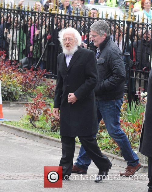 Eamonn Campbell The funeral of RTE broadcaster Gerry...