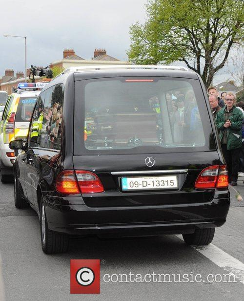Gerry Ryan Hearse The funeral of RTE broadcaster...