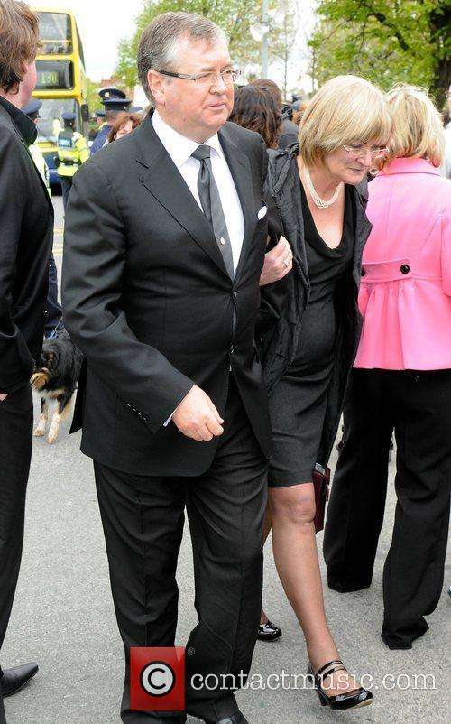 Joe Duffy, wife The funeral of RTE broadcaster...