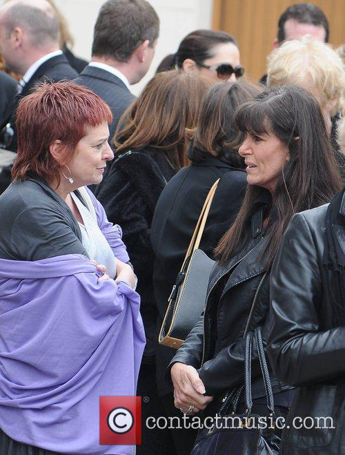 Linda Martin The funeral of RTE broadcaster Gerry...