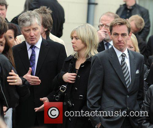 Pat Kenny, Kathy Kenny, Ryan Tubridy The funeral...