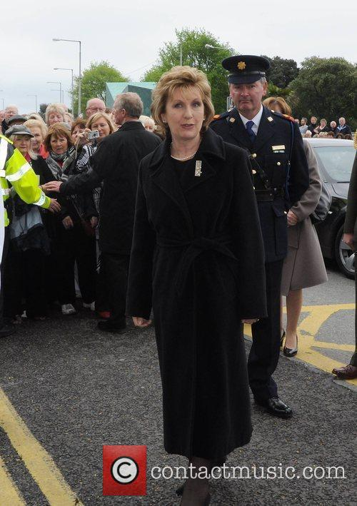 President Mary McAleese The funeral of RTE broadcaster...