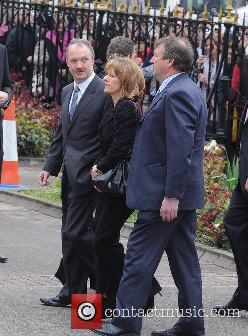 Sean Haughey The funeral of RTE broadcaster Gerry...