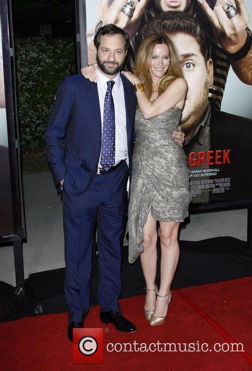 Judd Apatow and wife Leslie Mann Los Angeles...