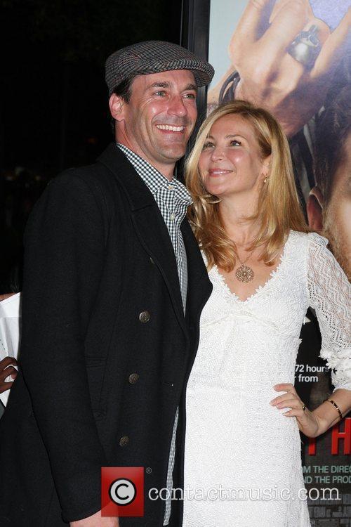 Jon Hamm and Jennifer Westfeldt Los Angeles Premiere...