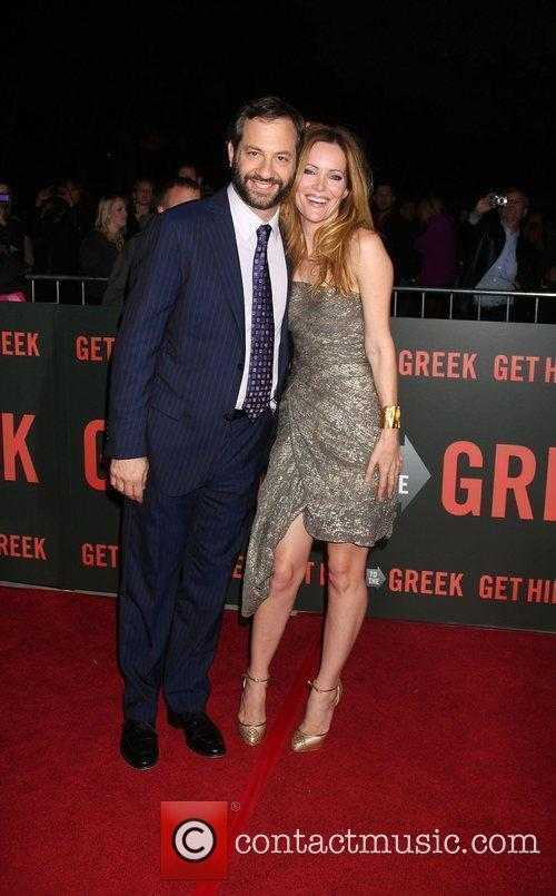 Judd Apatow and Leslie Mann Los Angeles Premiere...