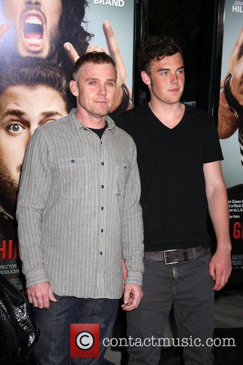 Rick Schroeder and Guest Los Angeles Premiere of...