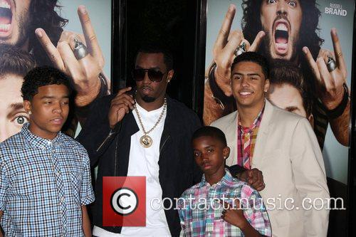 Sean Combs with his children Los Angeles Premiere...