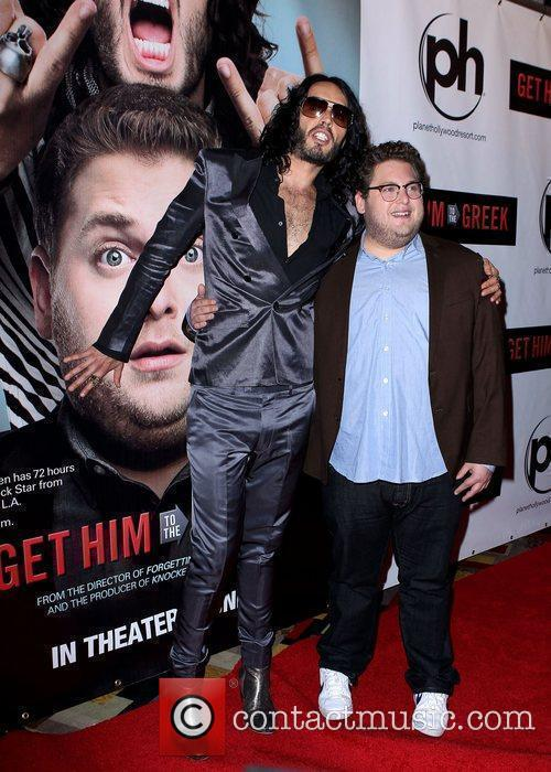 Russell Brand and Jonah Hill Las Vegas screening...