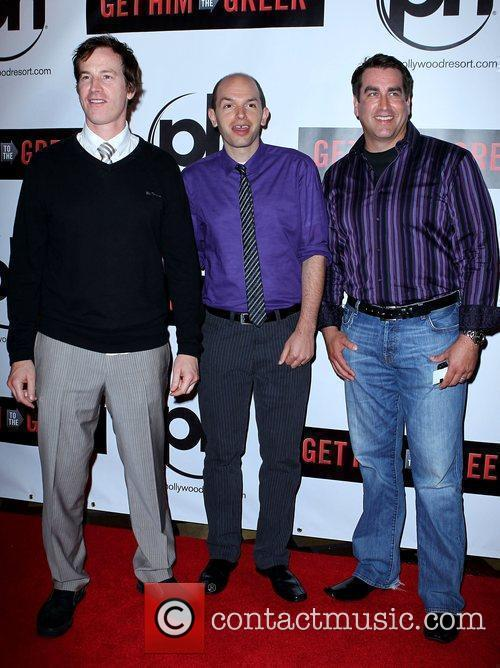 Rob Huebel, Paul Scheer and Rob Riggle Las...