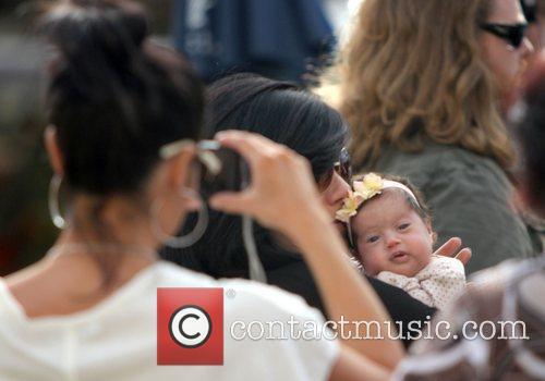 Courtney Laine Mazza  with her newborn daughter...