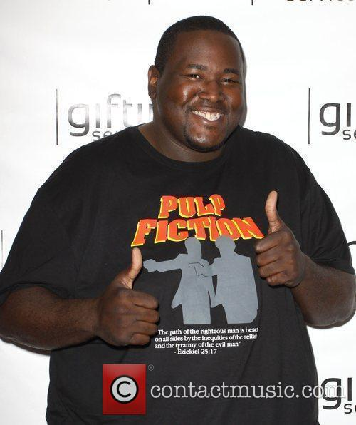 Quinton Aaron Celebrities visit Gifting Services at the...
