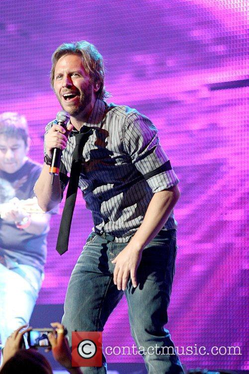 Singer Noel Schajris performs at KQ concert at...
