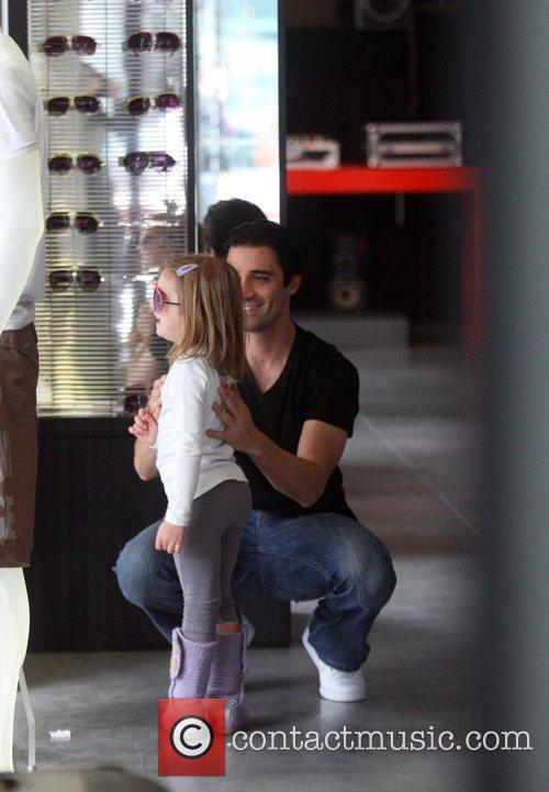 Gilles Marini  shops with his daughter Julianna...