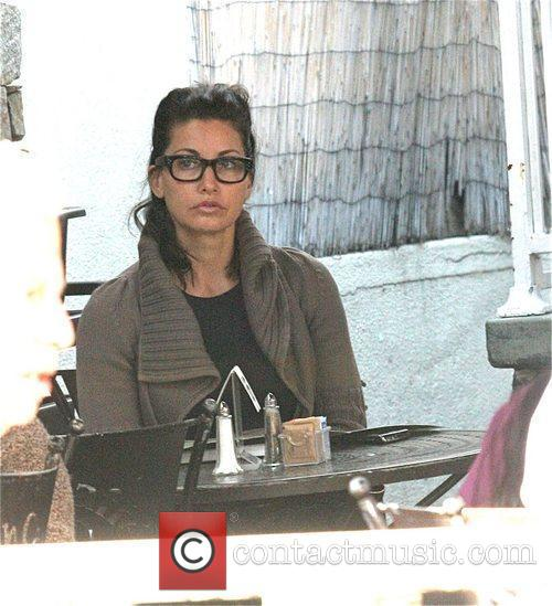 Gina Gershon having lunch at Urth Cafe in...