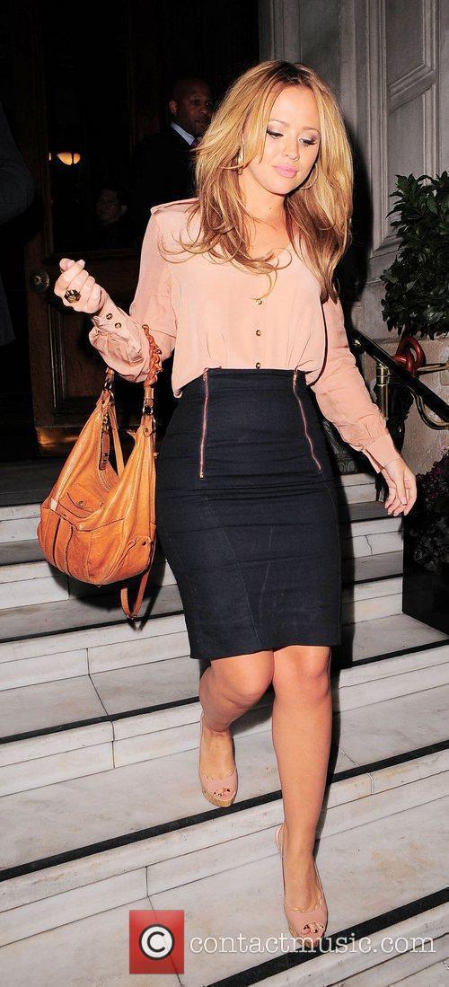 Kimberley Walsh of Girls Aloud leaving Mandarin Oriental...