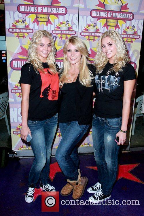Kristina Shannon, Crystal Harris and Karissa Shannon of...