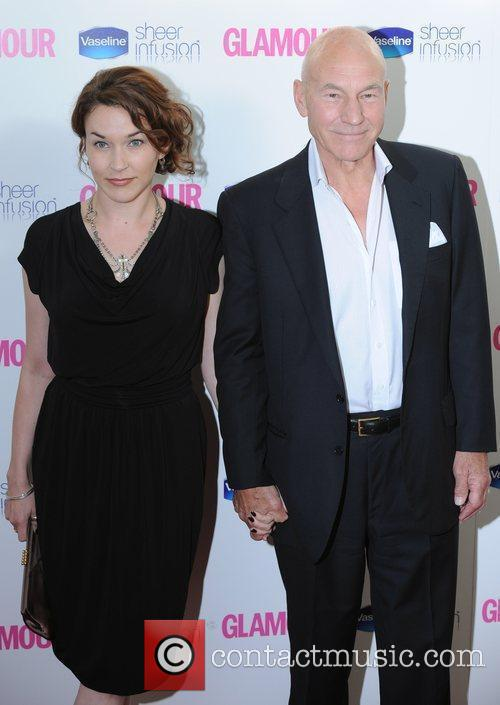Sir Patrick Stewart and guest Glamour Women Of...