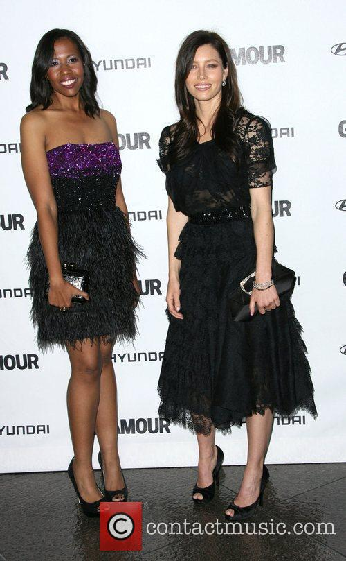 Jessica Biel and Guest 5th Anniversary of Glamour...