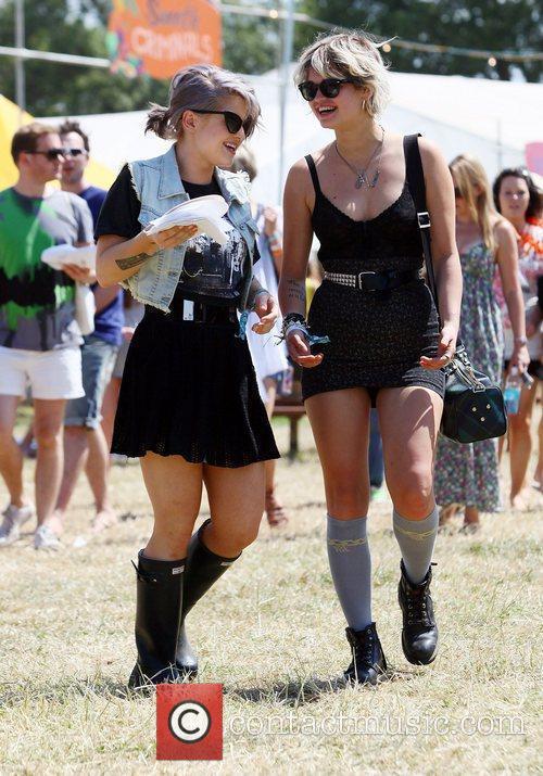 Kelly Osbourne and Pixie Geldof The 2010 Glastonbury...