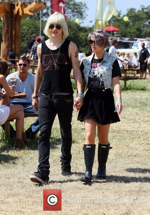 Luke Worrall and Kelly Osbourne The 2010 Glastonbury...