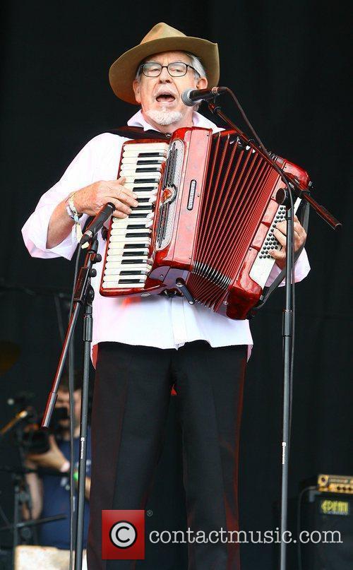 Rolf Harris performing on stage The 2010 Glastonbury...