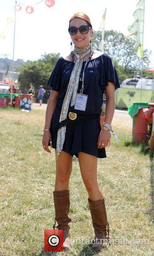 The 2010 Glastonbury Music Festival held at Worthy...