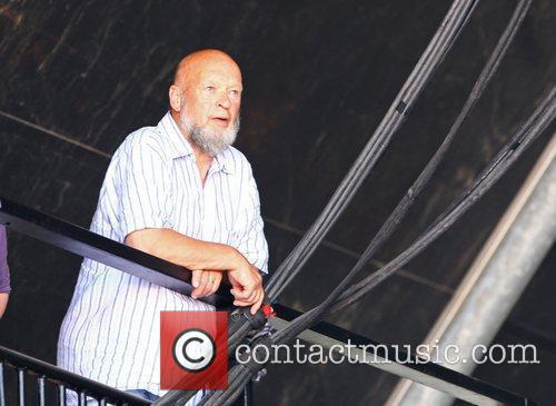 Michael Eavis watching Willie Nelson perform The 2010...