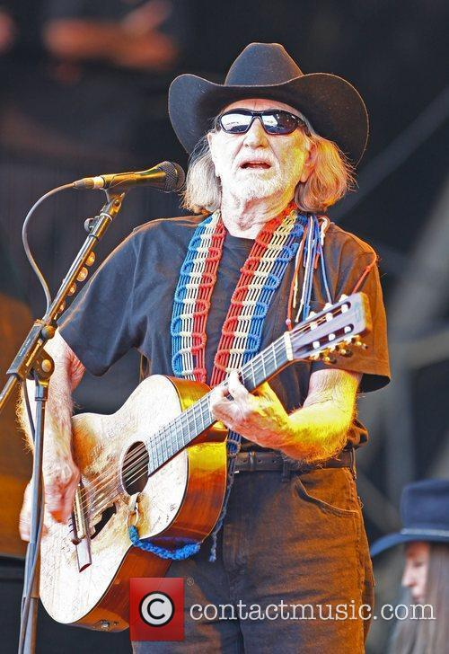 Willie Nelson The 2010 Glastonbury Music Festival held...