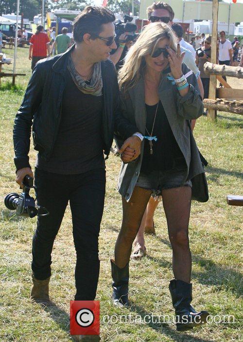 Kate Moss, Jamie Hince The 2010 Glastonbury Music...