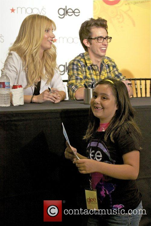Heather Morris and Kevin McHale attend the Macy's...