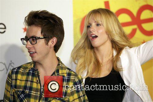 Kevin McHale and Heather Morris attend the Macy's...